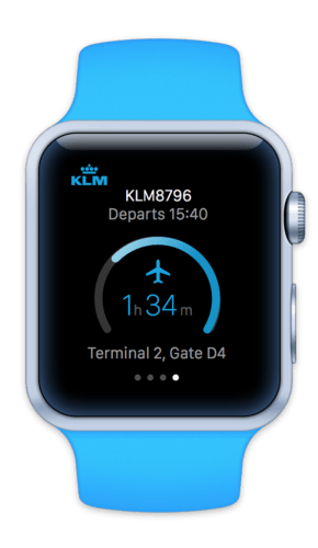 New KLM Apple Watch App/KLM