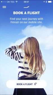 Finnair Mobile Site, Screen Snap, FCMedia