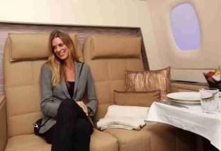 Nadja Schildknecht in The Residence in the Etihad Airways mobile exhibition vehicle/Etihad Airways