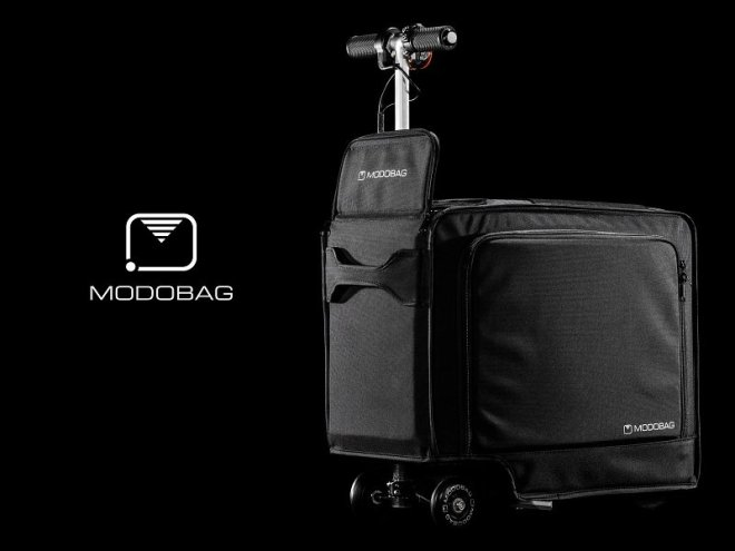 Modobag is the world's first motorized, smart and connected carry-on. (PRNewsFoto/Modobag)