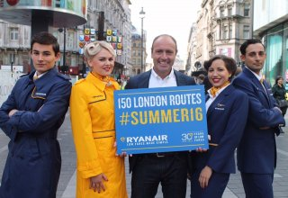 Ryanair's debuts new uniforms in London. Smart. Very Smart.