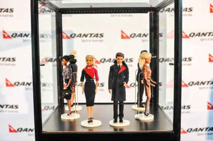 Collection of Qantas Crew Uniforms Over the Decades as Created by Former Crew Member John Willmott-Potts and Designer Martin Grant/Qantas