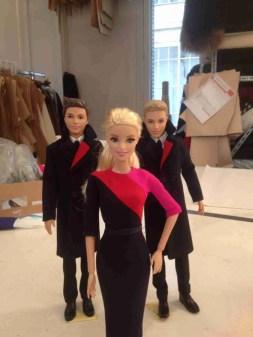 Qantas Barbie and Ken Show Off New Uniforms at Workshop of Designer Martin Grant