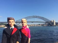 Barbie and Ken Don their Uniforms by the Sydney Bridge