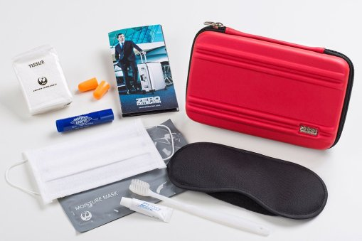 JAL ZERO HALLIBURTON AMENITY KITS SEMI-HARD CASE