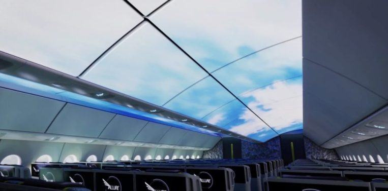 Boeing Blue Skies and Stars Cabin Animation Lighting