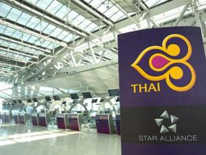 Thai Checkin Counters Bangkok airport photo11