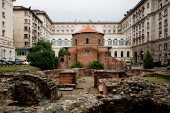 he 3rd century St. George Rotunda(the oldest building) behind some remains of Sedica, Ann Wuyts, Commons