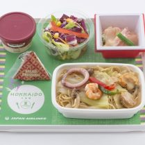 JAL new Hokkaido Economy Meals, Fried Noodles with Seafood in Salt Flavor (Kitami)