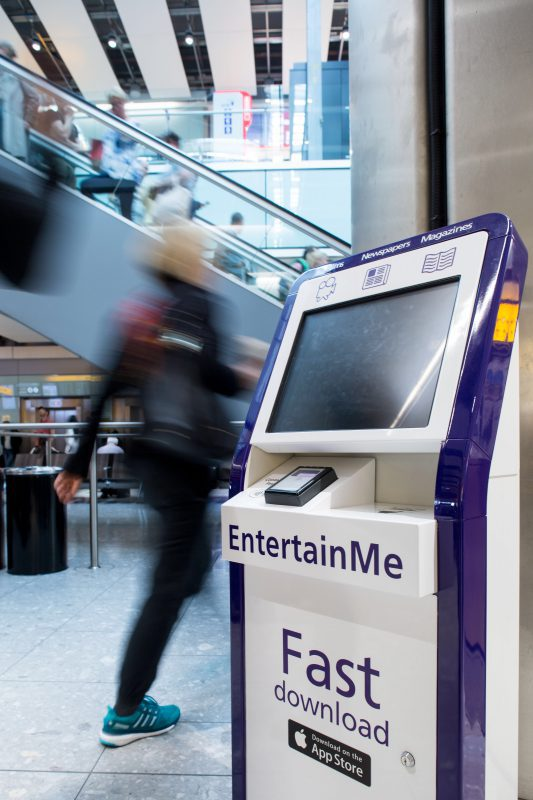 Heathrow EntertainMe Content Download Kiosk, Source: SITA