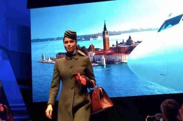 EXCLUSIVE Alitalia New Uniforms Runway Show Rome
