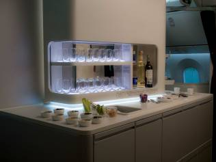 Aeroméxico New 787-9 Dreamliner, Bar. Source: Aeroméxico