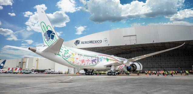 Aeroméxico New 787-9 Dreamliner. Source: Aeroméxico