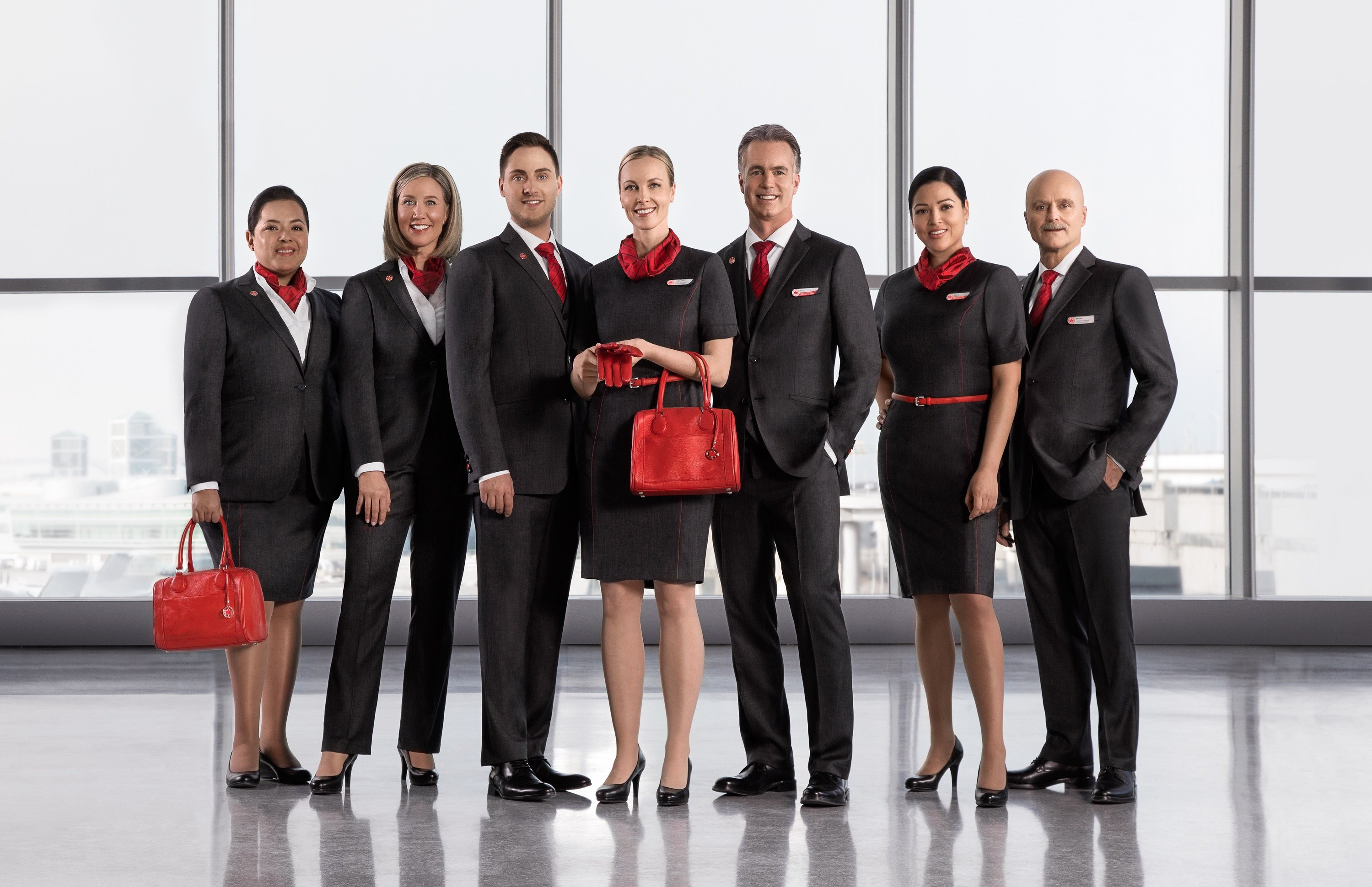 air canada reveals new uniforms fully tested by staff over