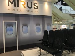 Mirus Aircraft seating at Aircraft Interiors Expo Hamburg, 2015 © FCMedia/Flight Chic