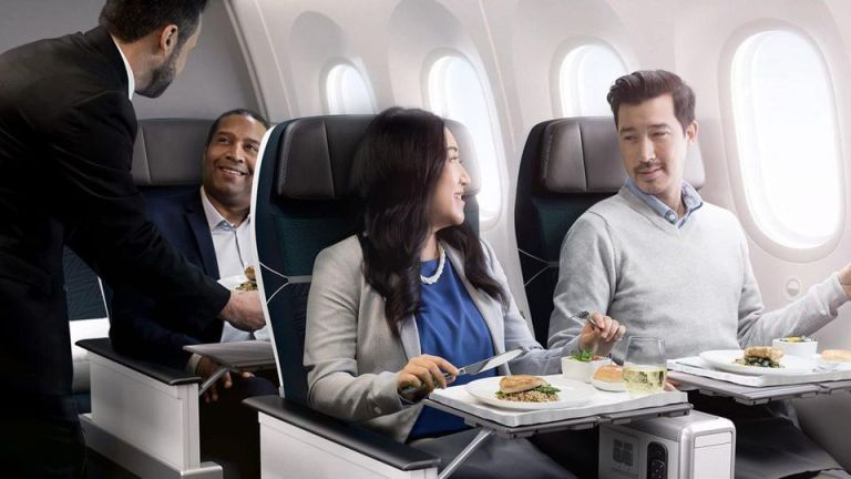 WestJet Dreamliner premium economy cabin