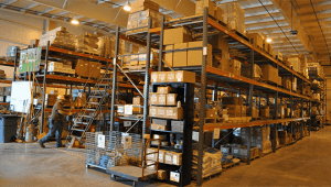 A distributors warehouse.