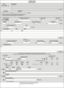 ICAO model flight plan form