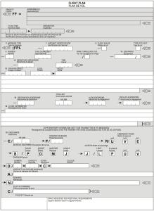 ICAO model flight plan form
