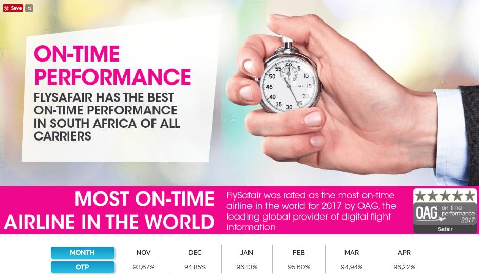 flysafair.co.za flight on time performance