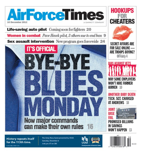 MAJCOMs can ditch Blues Mondays — this week's Air Force Times