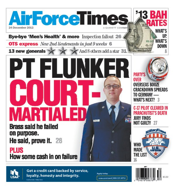 Airman acquitted of purportedly failing PT test to collect