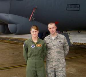 Air Force Capt. Brenna Dicks is scheduled to PCS on Nov. 8 from Minot AFB in North Dakota to Barksdale AFB in Louisiana. But PCS orders for her husband, Capt. Larry Dicks, are delayed by the shutdown. (Courtesy of Capt. Brenna Dicks)