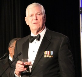 Gen. Myers toasts the Doolittle Raiders Saturday, Nov. 9, at the American Veterans Center Honors gala in Washington, D.C.  (courtesy Meredith Resnick/Hayes Group LLC)