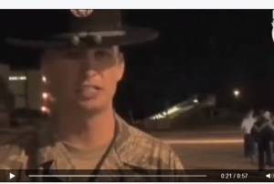 Screenshot of the Air Force recruiting video, which was taken down in 2009.