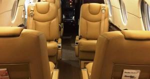 AMG Jets Hawker 400XP Cabin