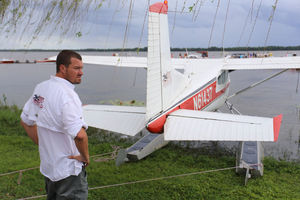 Rob Galloway, who is responsible for day-to-day operations at Jones Brothers & Co. Air and Seaplane Adventures in Tavares, stands behind a seaplane.