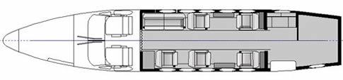 San Diego King Air 200 interior seating layout