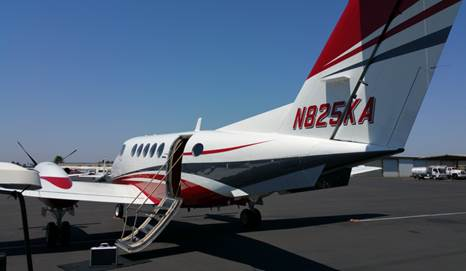 San Diego based King Air 200 operated by Premier Air Charter.