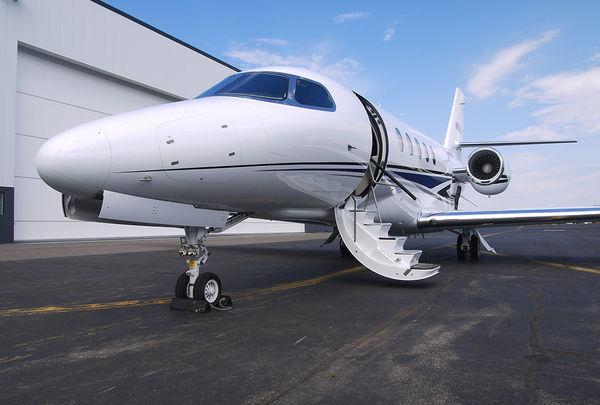 Citation Latitude midsize business jet for charter.