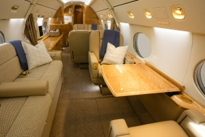 PHOTO, Gulfstream IV-SP cabin, new to charter and based at SDL Scottsdale AZ with operator Prime Jet