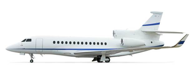 Dassault Falcon 7X ultra long range fleet available for international charter operated by Planet Nine Private Air.