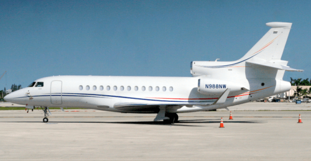Falcon 7X long range jet new to charter, operated by Elevate Jet, LLC