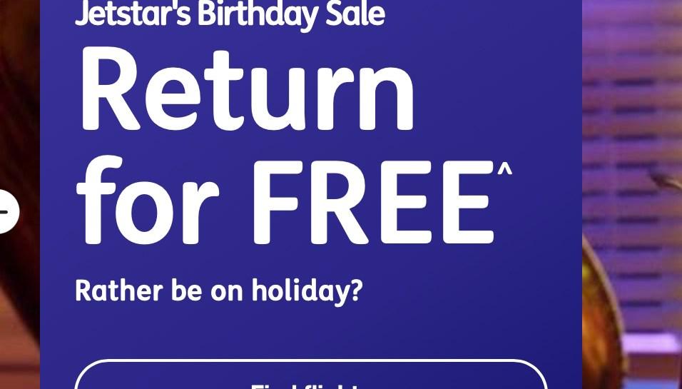 Jetstar return for free