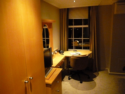 The Lensbury room and desk