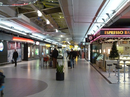 Shopping at Schipol Airport Arrivals Hall