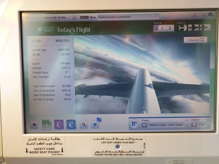 Flights show on the Emirates A380