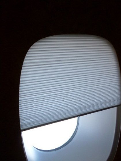 Electronic blinds on the A380