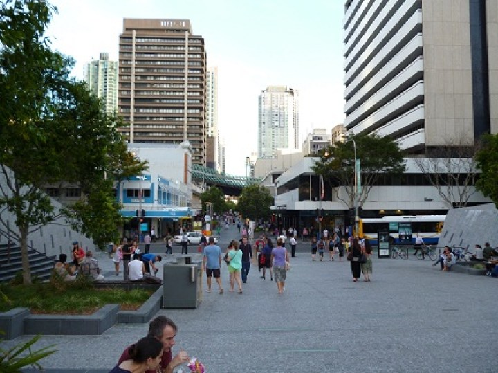 Brisbane Pedestrian Areas