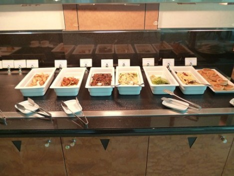 Hot Food Selection at the Emirates Business Class Lounge at Melbourne Airport