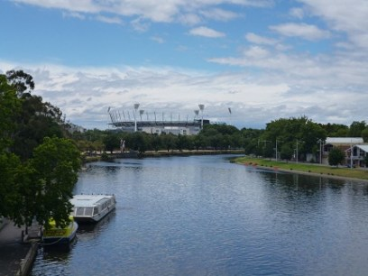 Looking At The MCG From The Princes Bridge
