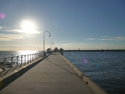 Looking Down St Kilda Pier looking for the St Kilda penguins