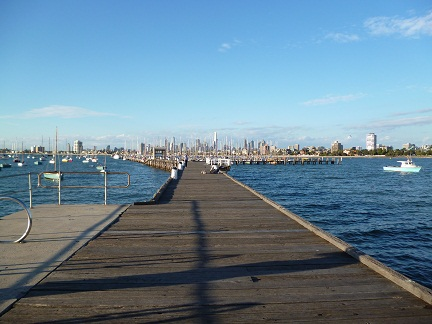 Melbourne City Landscape From St Kilda Pier just before seeing the St Kilda penguins
