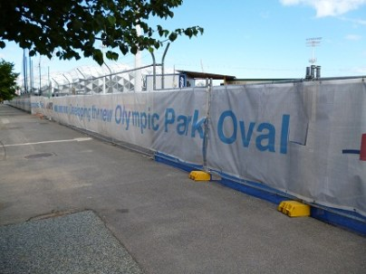Olympic Park Oval Being Rebuilt