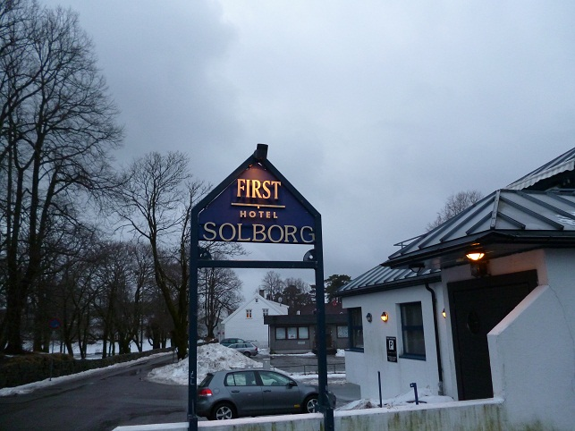 First Hotel Solborg sign