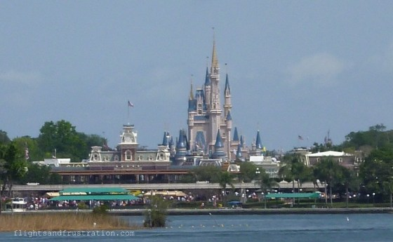 View of Disney World from the ferry